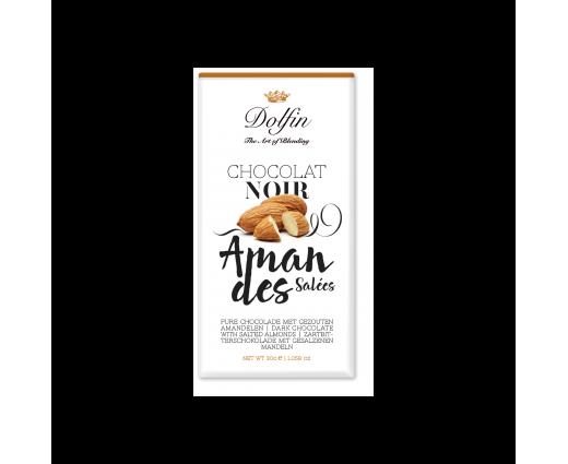 Tablette chocolat noir amandes salées