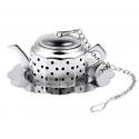 Boule à thé théière inox