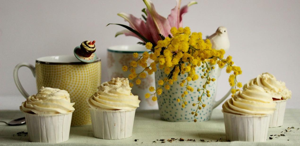 Cupcakes au thé Passion de fleurs de Dammann Frères