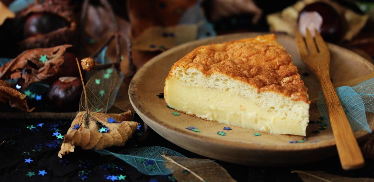 Gâteau magique au Thé Chant du Phoenix de Lu Shan