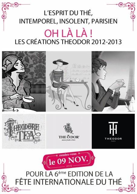 Affiche de THEODOR pour la fête internationale du thé