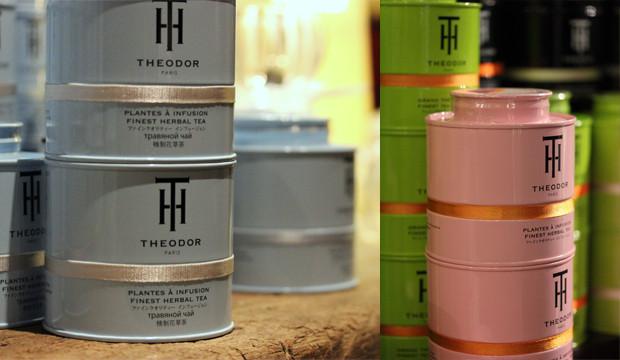 D'innombrables boîtes de thé THEODOR