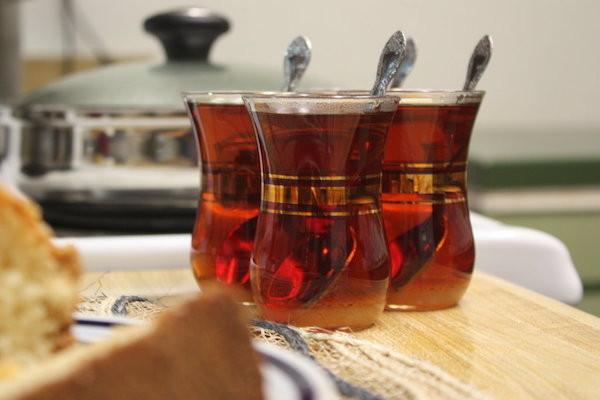 Des verres de thé irakien