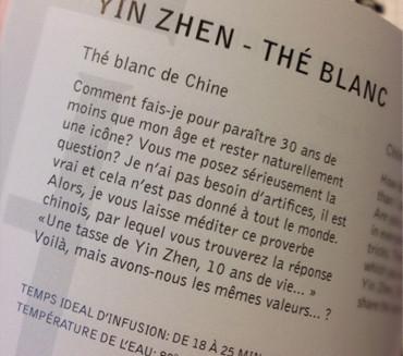 Le Yin Zhen, thé favori de Guillaume Leleu