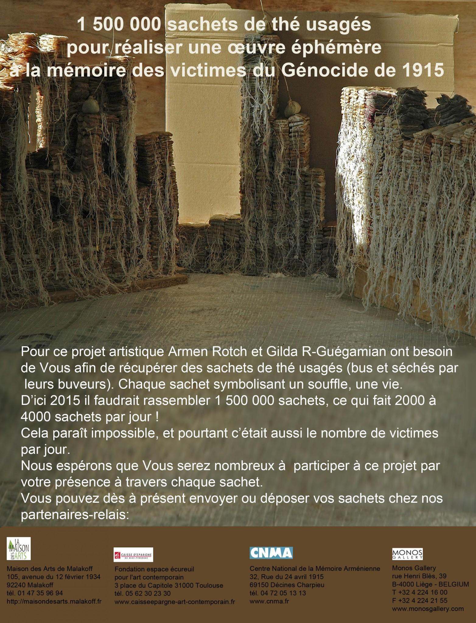 Affiche du projet d'Armèn Rotch en commémoration du génocide arménien