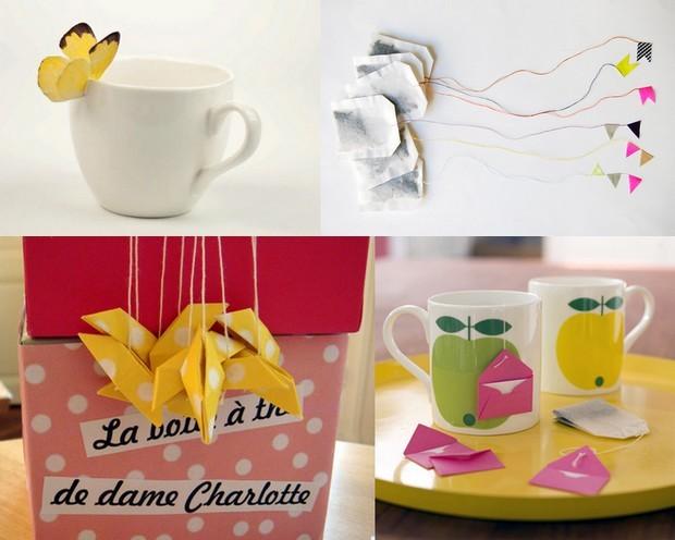 Personnaliser l'embout de son sachet de thé avec Designmuseblog, Chouette fille, Perchée sur ma branche et Maison créative