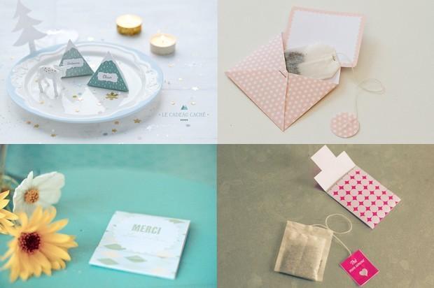 Des enveloppes fantaisie pour ranger ou pour offrir du thé avec My Little Fabric, Un Beau Jour ici et ici et Le marché éclectique