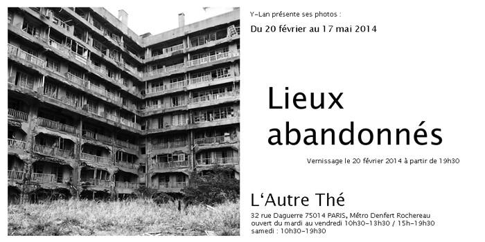Flyer de L'Autre Thé pour annoncer l'exposition d'Y-Lan