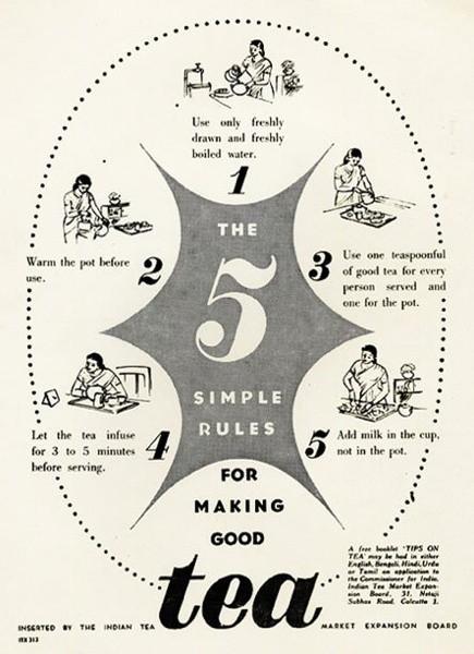 Publicité : les 5 règles simples pour faire du bon thé