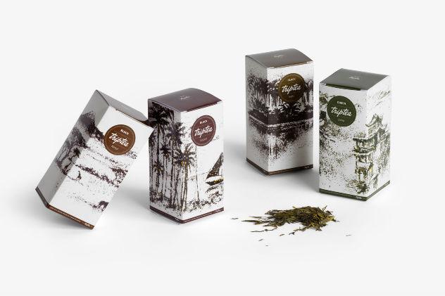 Les 4 boîtes de Triptea illustrées par Andrew Gorkovenko