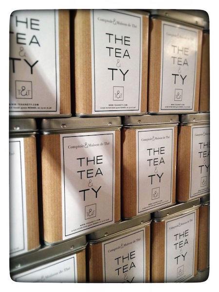 Des boîtes de thé chez TEA & TY