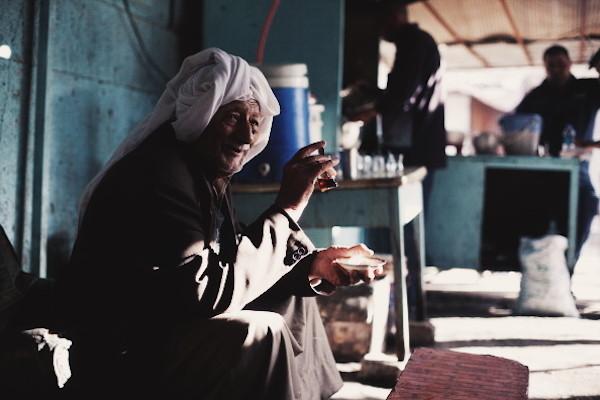 Akram au salon de thé, Baghdad