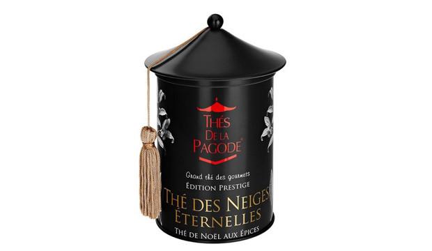 La boîte du Thé des Neiges Éternelles des Thés de la Pagode