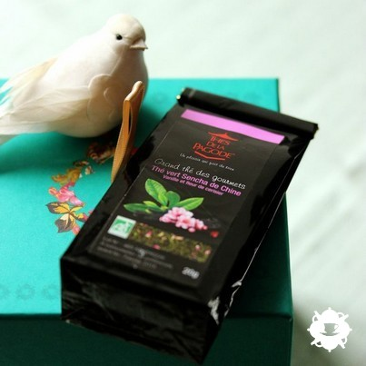 Thé vert Sencha de Chine vanille et fleur de cerisier des Thés de la Pagode