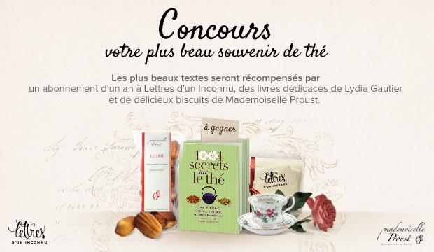 Jeu Concours Votre plus beau souvenir de thé