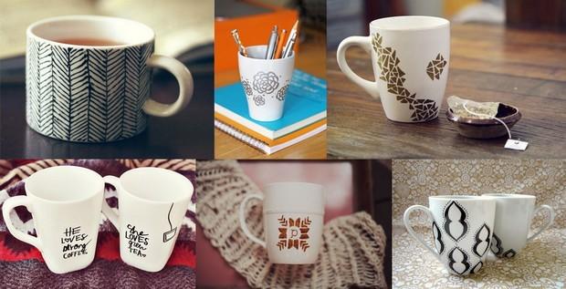 Sélection de mugs customisés