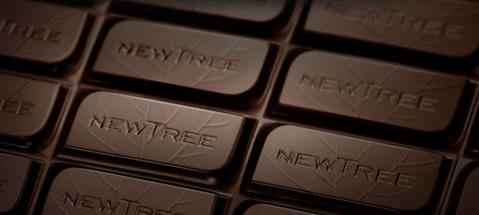 Une tablette de chocolat Newtree