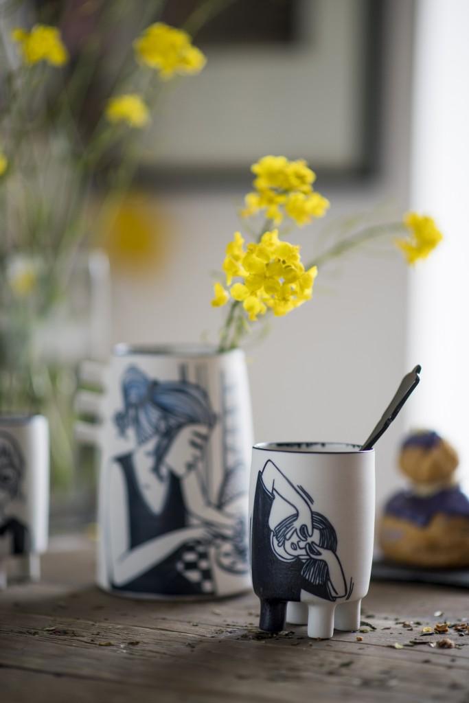Vase et tasse Marlène Requier