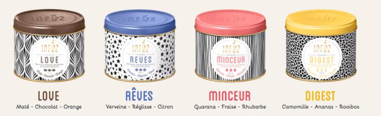 La gamme Infuz | thés et infusions contemporains